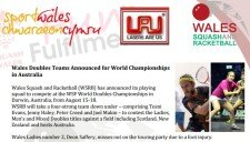 Wales name World Double teams